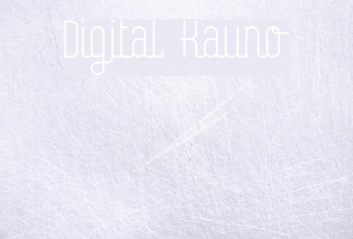 Digital Kauno Font examples