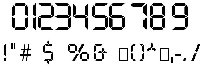 Digital Normal Font Alte caractere