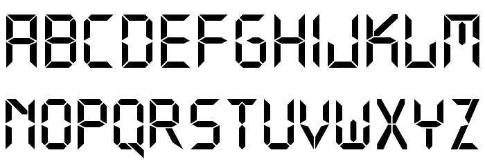 Digital Normal Font Litere mari