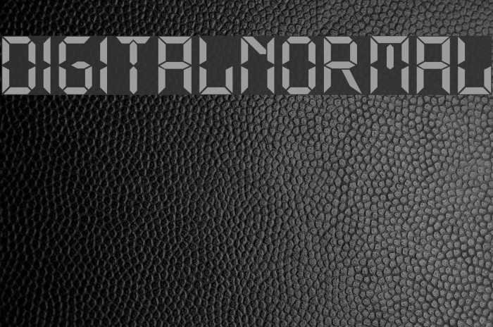 Digital Normal Font examples