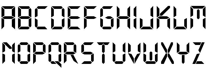 Digital Normal Font Litere mici