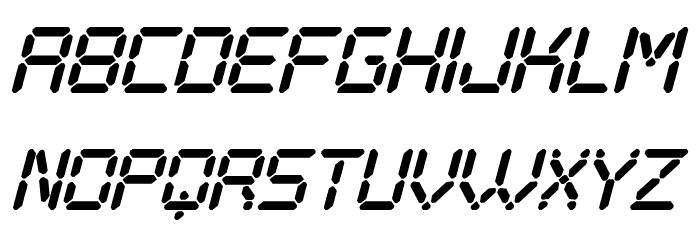 Digital Play Italic St Font UPPERCASE
