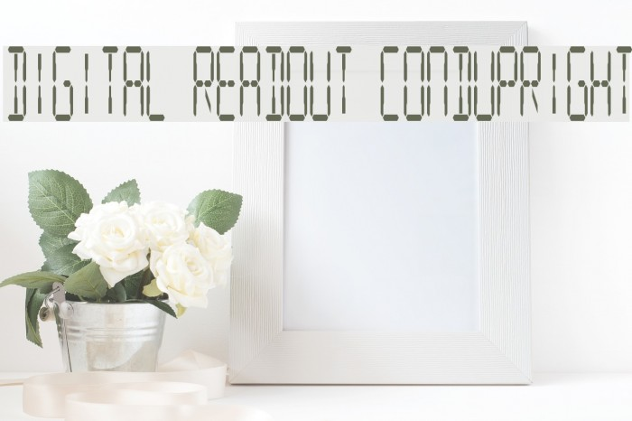 Digital Readout CondUpright Fonte examples