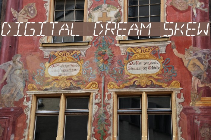 Digital dream Skew Шрифта examples