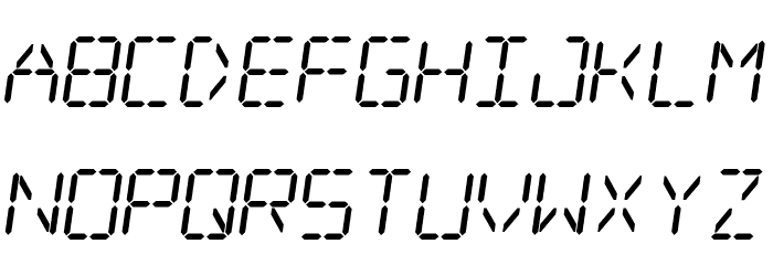 Digital dream Skew Шрифта строчной