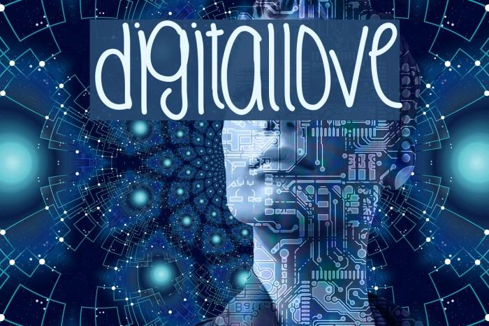 DigitalLove Fonte examples