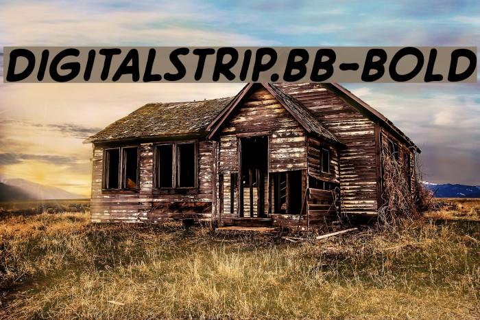 DigitalStrip.BB-Bold Fonte examples