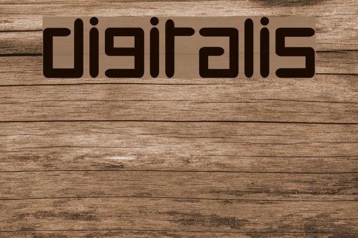 Digitalis Font examples