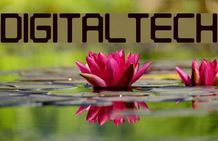 Digitaltech फ़ॉन्ट examples