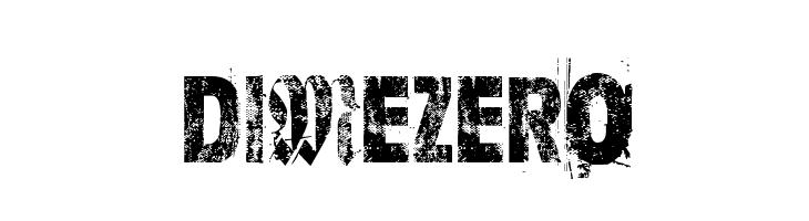 Dime Zero  Скачать бесплатные шрифты