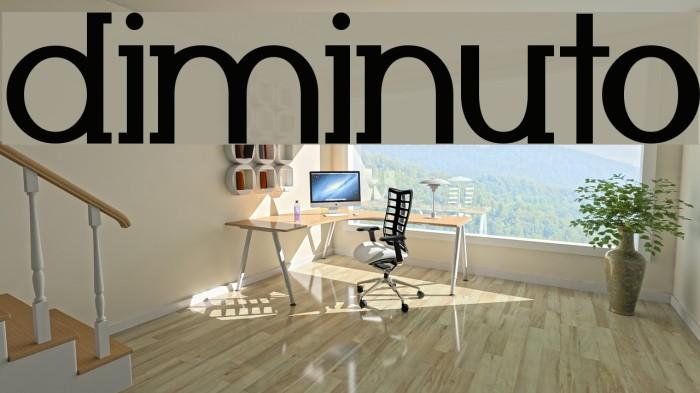 Diminuto Font examples