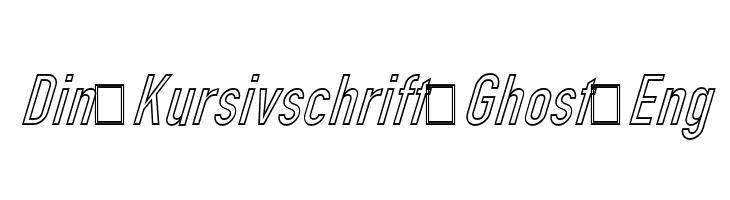 Din Kursivschrift Ghost Eng  नि: शुल्क फ़ॉन्ट्स डाउनलोड