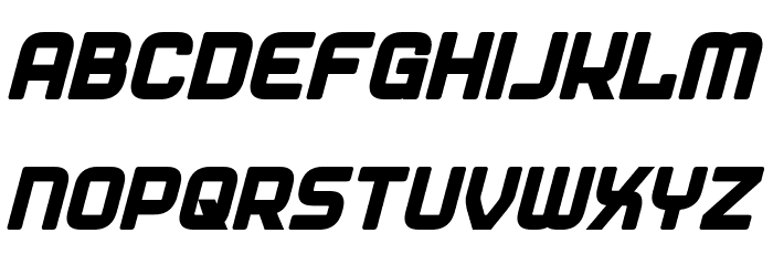 Diner Bold Italic 字体 大写
