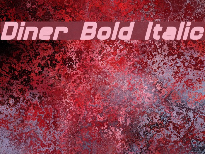 Diner Bold Italic 字体 examples