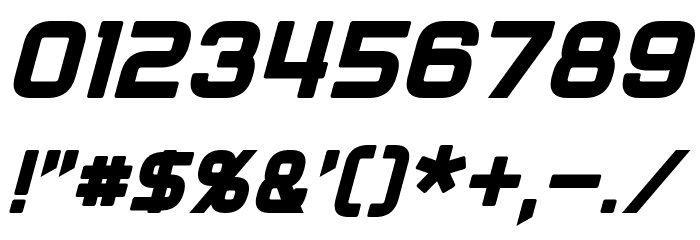 Diner Italic フォント その他の文字