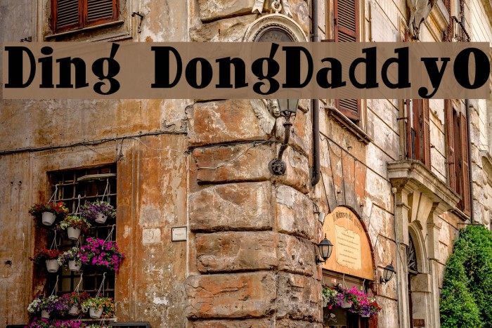 Ding-DongDaddyO Fonte examples