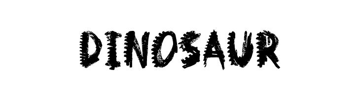 Dinosaur  Скачать бесплатные шрифты