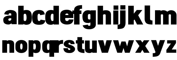 Dinova Black Font LOWERCASE