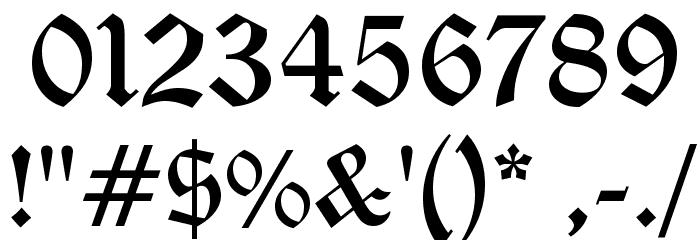 Diploma Regular Font OTHER CHARS