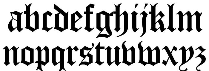 Diploma Regular Font LOWERCASE