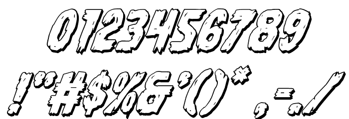 Dire Wolf 3D Italic Font OTHER CHARS