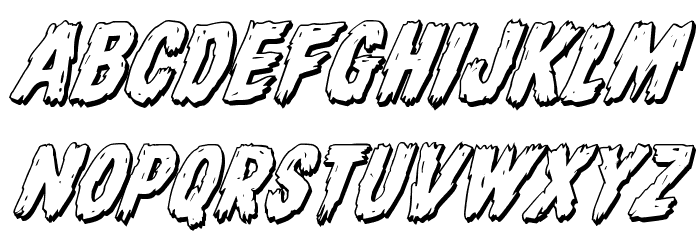 Dire Wolf 3D Italic Font UPPERCASE