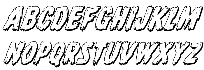 Dire Wolf 3D Italic Font LOWERCASE