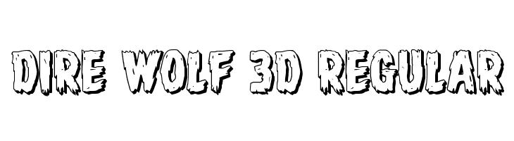 Dire Wolf 3D Regular  Free Fonts Download