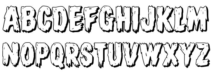 Dire Wolf 3D Regular Font UPPERCASE
