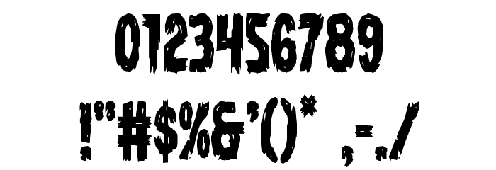 Dire Wolf Condensed Font OTHER CHARS