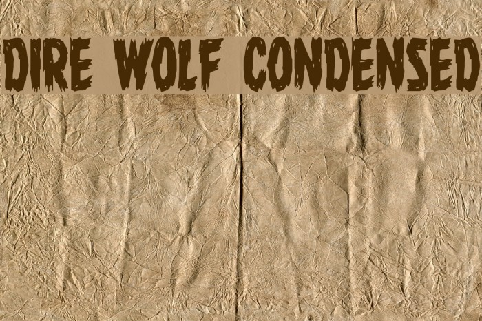 Dire Wolf Condensed Font examples