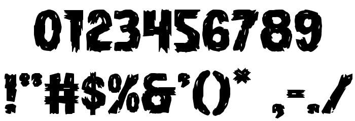 Dire Wolf Expanded Font OTHER CHARS