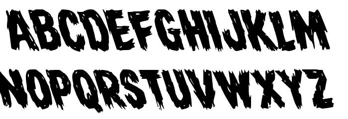 Dire Wolf Leftalic Font UPPERCASE
