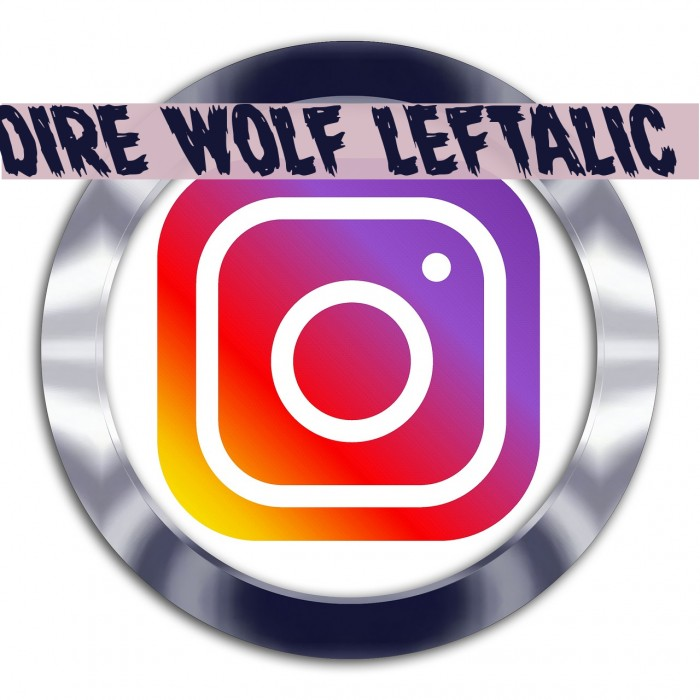 Dire Wolf Leftalic Font examples