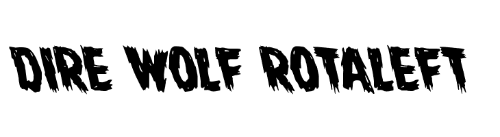 Dire Wolf Rotaleft  Free Fonts Download