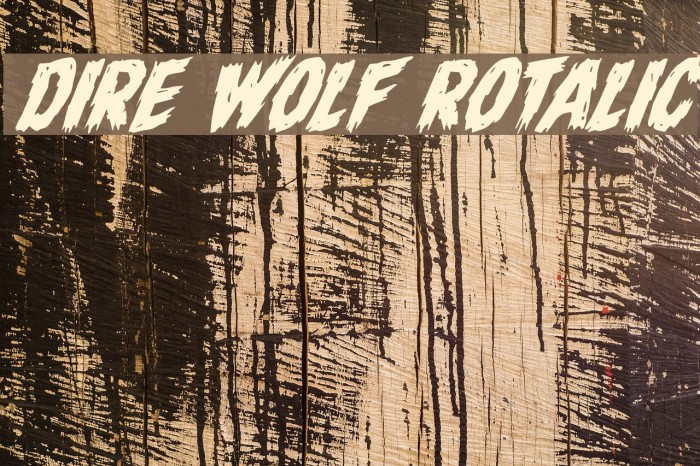 Dire Wolf Rotalic Font examples