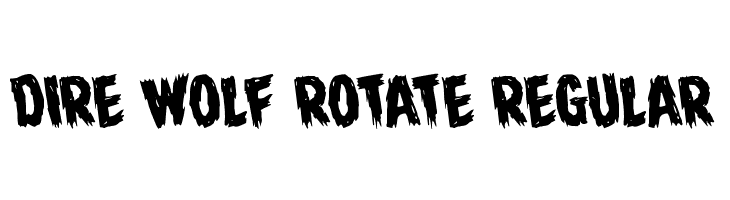 Dire Wolf Rotate Regular  Free Fonts Download