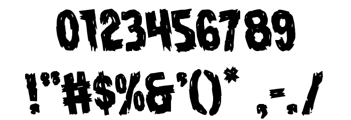 Dire Wolf Rotate Regular Font OTHER CHARS