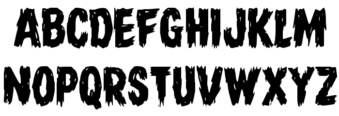 Dire Wolf Staggered Regular Font UPPERCASE