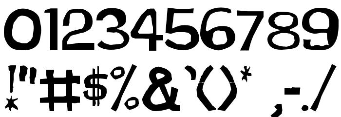 DirtDevil Font OTHER CHARS