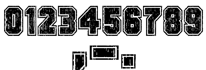 Dirty Bowl 86 Font OTHER CHARS