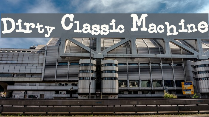 Dirty Classic Machine Font examples
