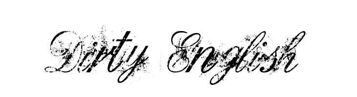Dirty English  Free Fonts Download