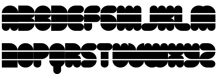 Disco Flow Regular Font UPPERCASE