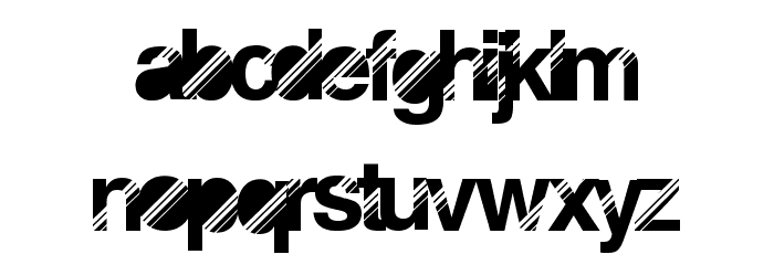 DiscoNight Font LOWERCASE