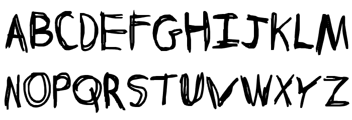 Discombobulated Sketchancholy Font UPPERCASE