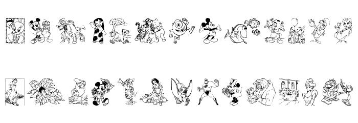 Disney family 1 फ़ॉन्ट अपरकेस
