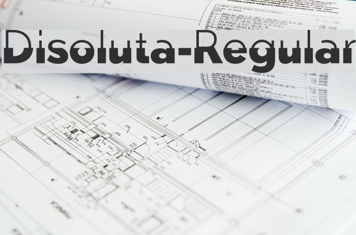 Disoluta-Regular फ़ॉन्ट examples