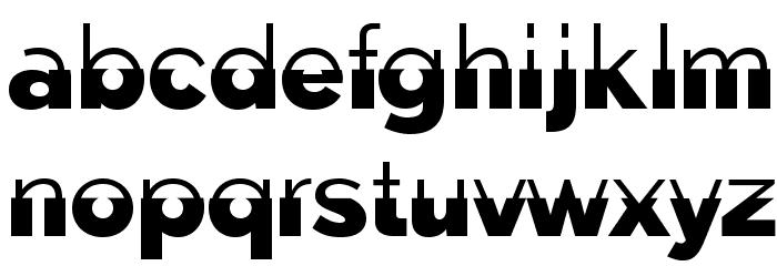 Disoluta-Regular फ़ॉन्ट लोअरकेस