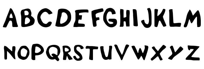 DisplayFadi Font Litere mari